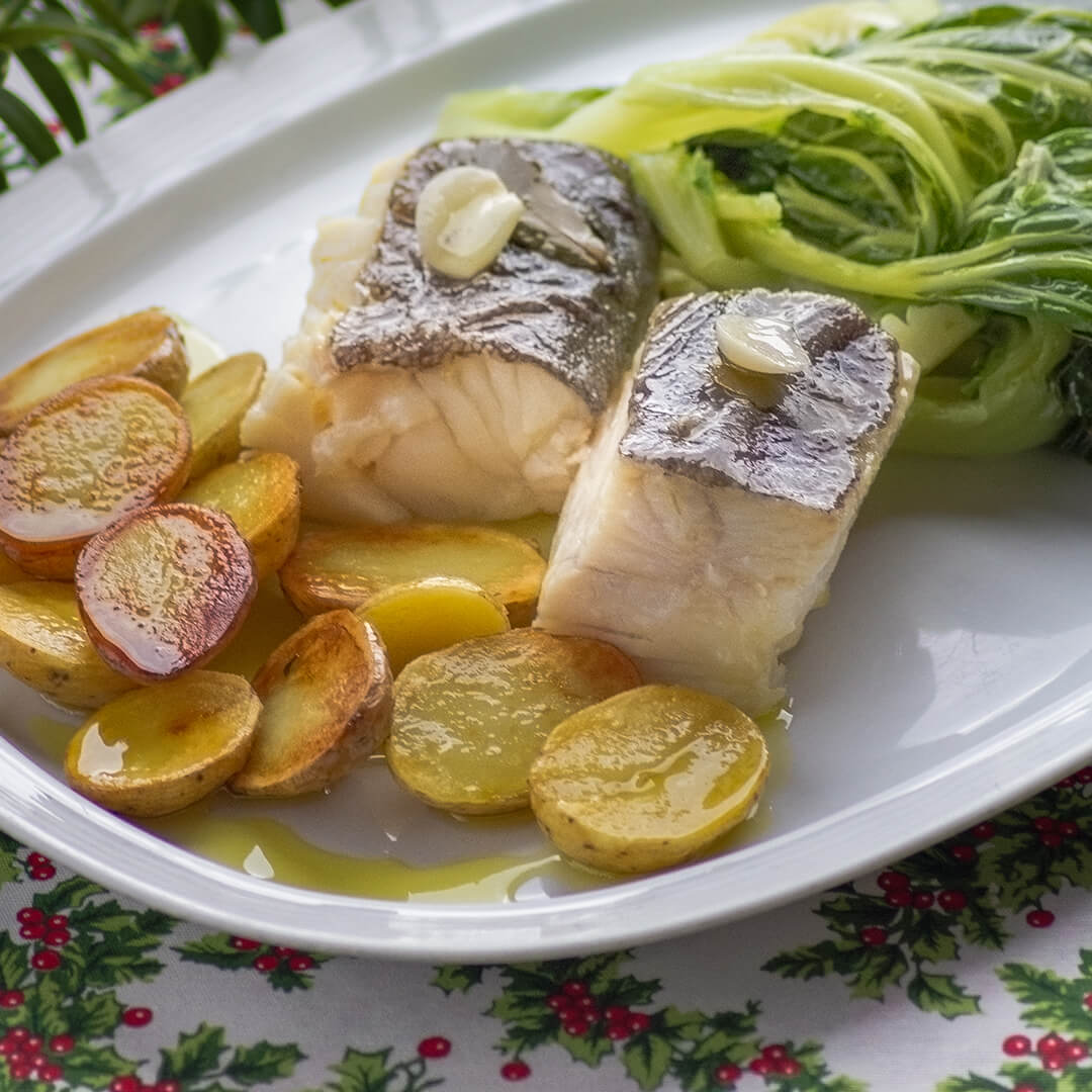 Codfish in Olive Oil and Garlic